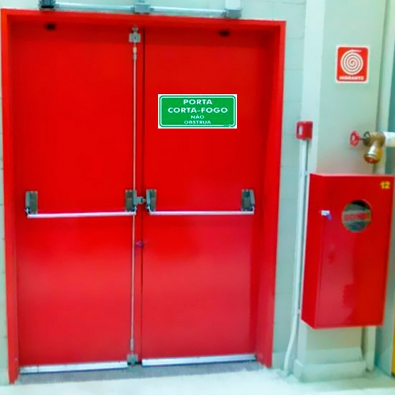 Porta Corta Fogo Dupla Belém - Porta Corta Fogo de Alumínio