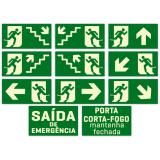 placa de sinalização de saída de emergência Vila Prudente