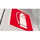 placa de sinalização extintor Freguesia do Ó