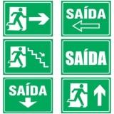 placa fotoluminescente de sinalização na Santa Cecília