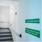placa saída de emergência fotoluminescente cotar Vila Gustavo