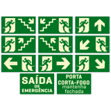placa sinalização saída de emergência Perdizes