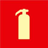 placa fotoluminescente de extintores