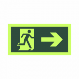 placas indicativa saída de emergência Ibirapuera