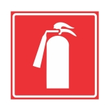 placa de extintor de incêndio