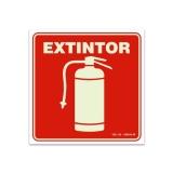 placa de extintor pó químico