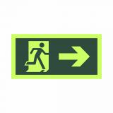 placa de sinalização de saída de emergência