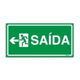 placa indicativa de saída de emergência