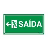 placa sinalização saída de emergência