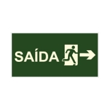 placas saída de emergência Vila Carrão