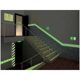 placas saída fotoluminescente Consolação
