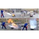 treinamento para brigadistas de incêndio na Itaquera