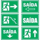 venda de placa de sinalização de saída de emergência Parque do Carmo
