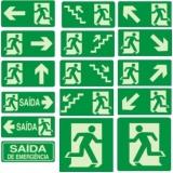 venda de placa rota de fuga fotoluminescente em São Domingos