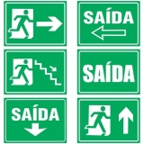 venda de placa saída de emergência vermelha Parque São Jorge